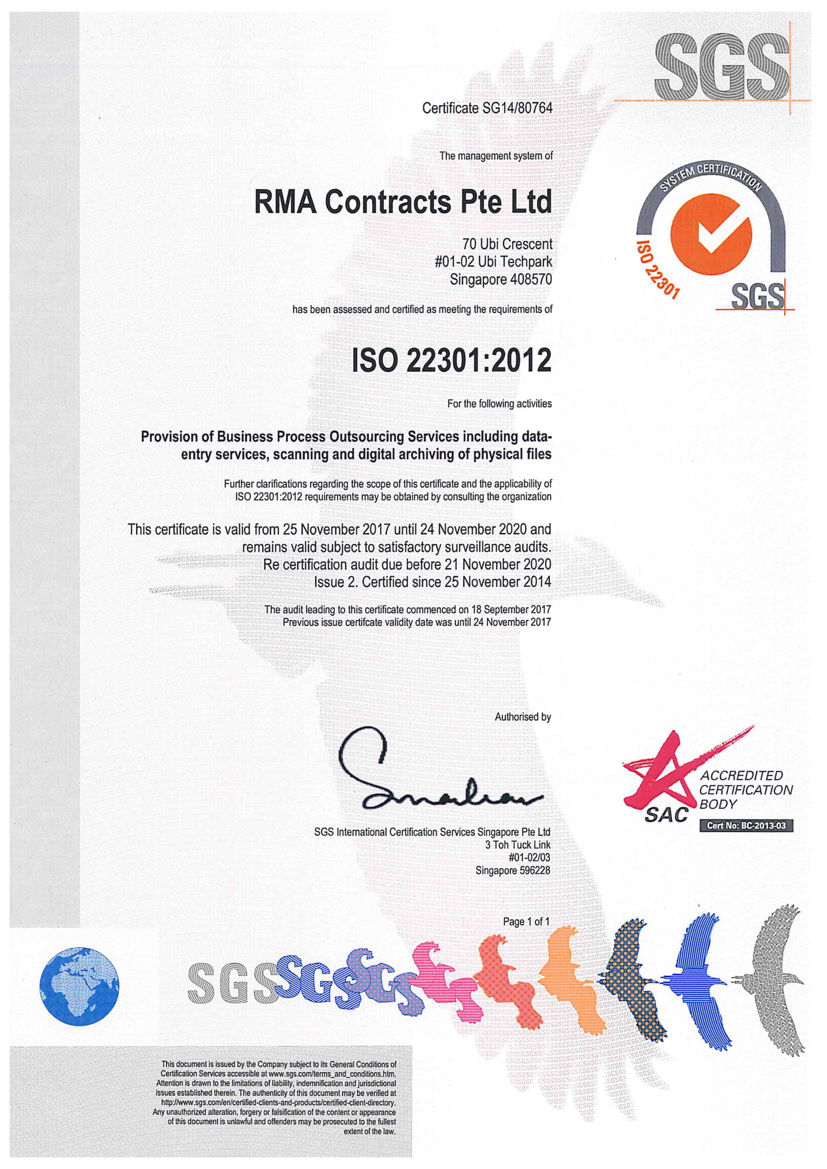 RMA Contracts ISO 22301 2020-1