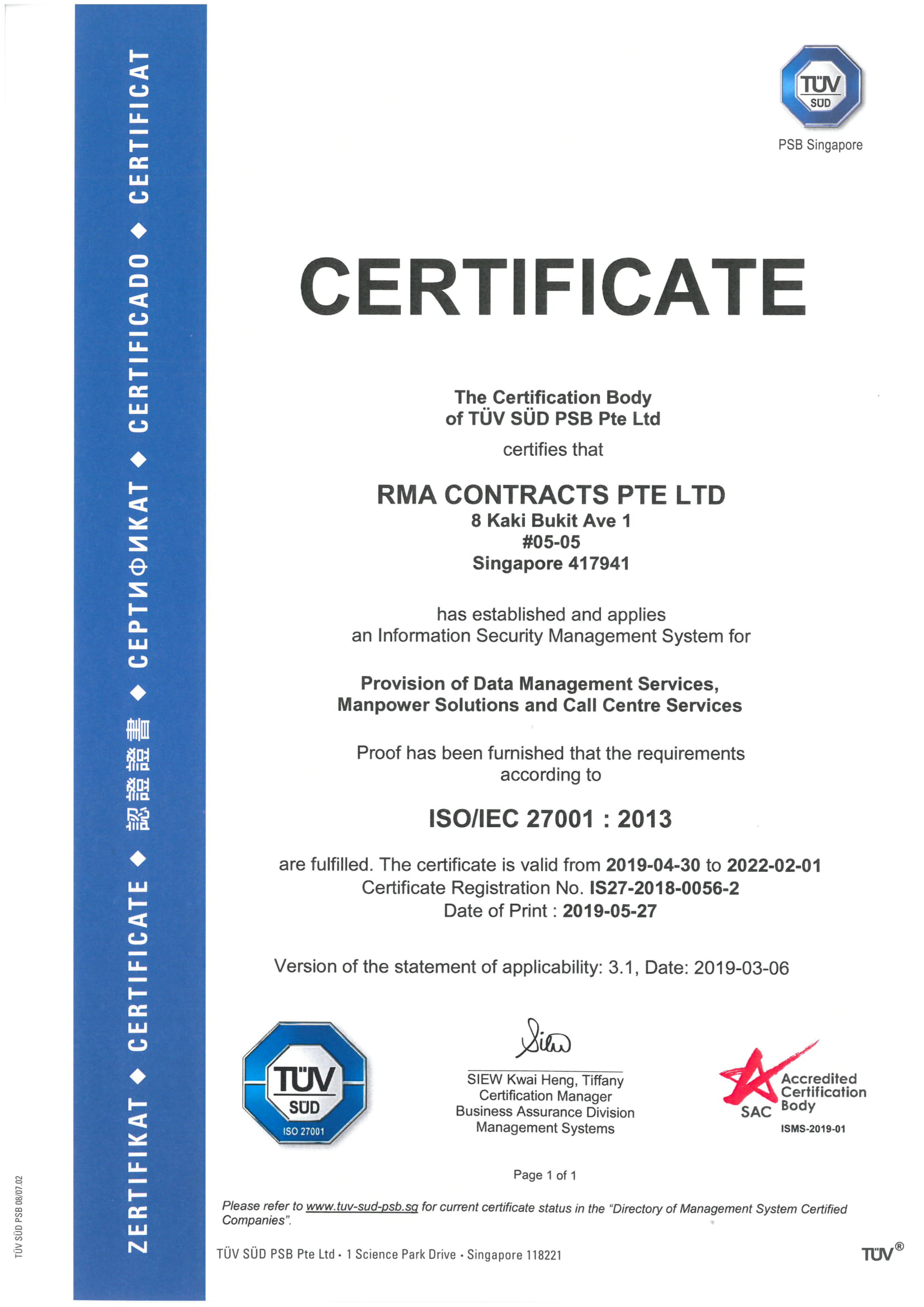 RMA Group ISO 27001 2022-3